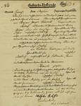 Archiv - Geburtsurkunde