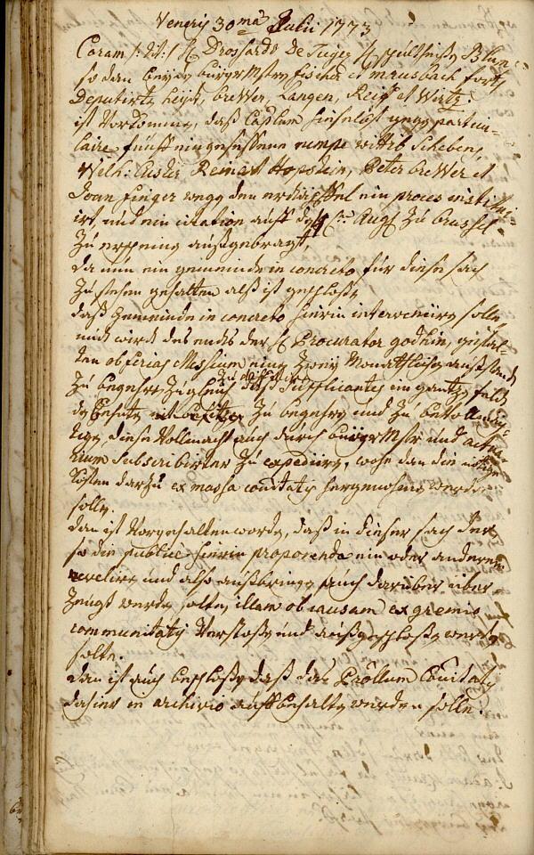 Archiv - Archiv 1773