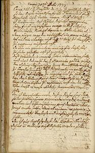 Gemeinderatsprotokoll vom 30.07.1773