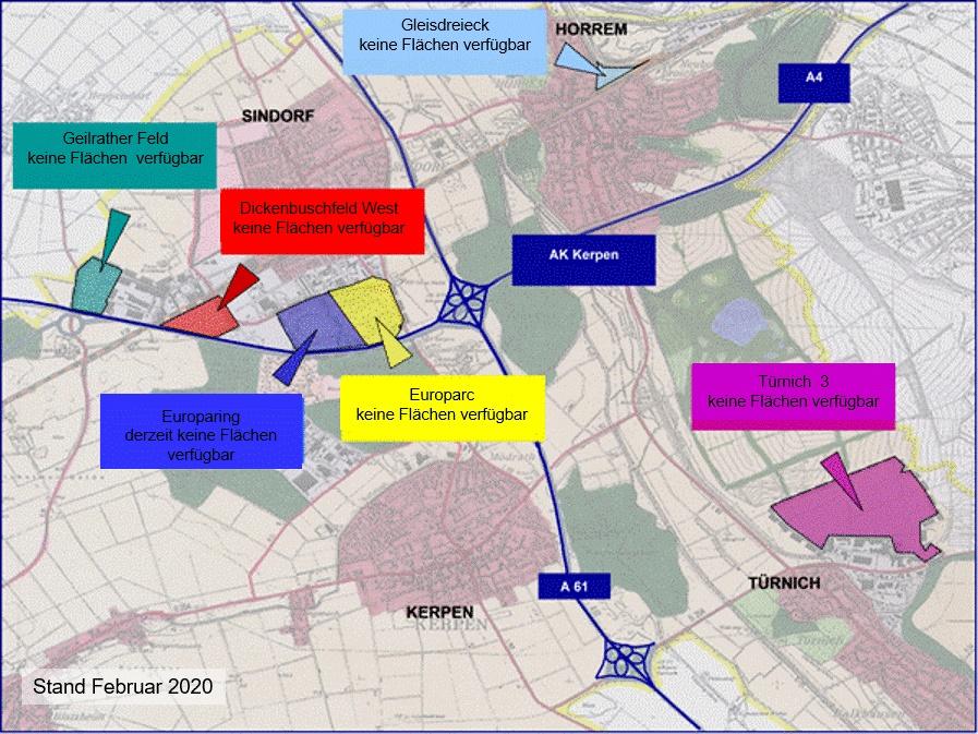 städtische Gewerbe- und Industrieflächen