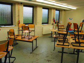 Klassenraum Rathausschule vor der Sanierung