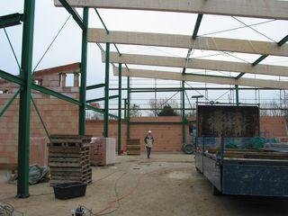 Neubau der Turnhalle in Buir