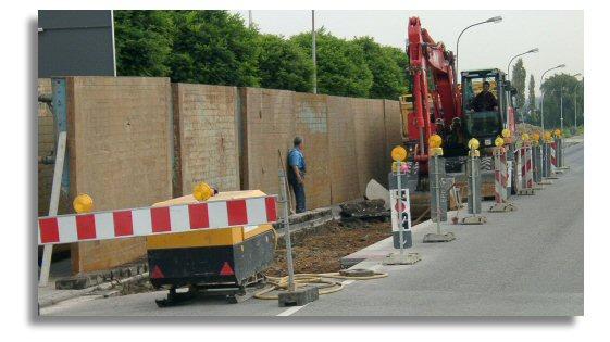 Kanalbauarbeiten in offener Bauweise