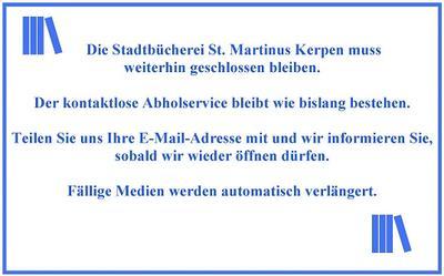 Stadtbücherei geschlossen bis 14.02.2021