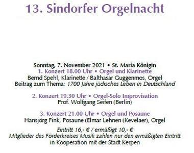Sindorfer Orgelnacht 2