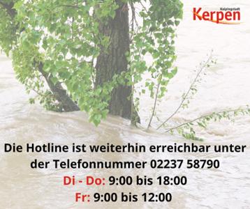 Hotline weiterhin erreichbar (Hochwasser)