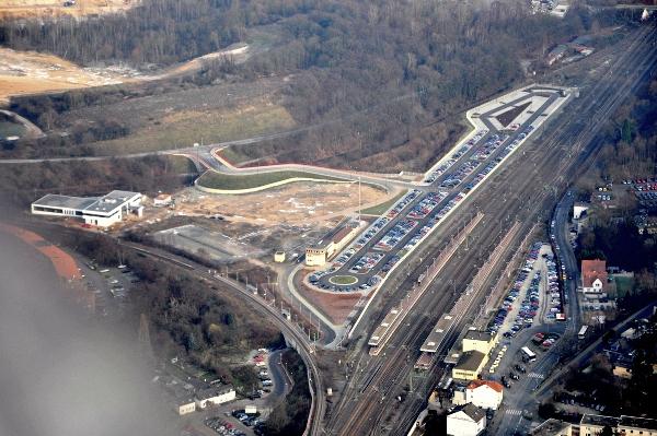 Luftbild des Gewerbegebiets Gleisdreieck Horrem