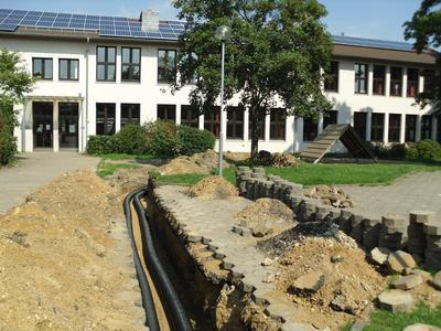 Leitungsverlegung auf dem Gelände der Ulrichschule